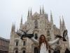 Bri and Pigeons at the Duomo